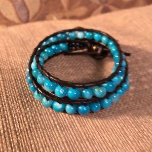 Jewelry - Handmade Beaded Leather Bracelet